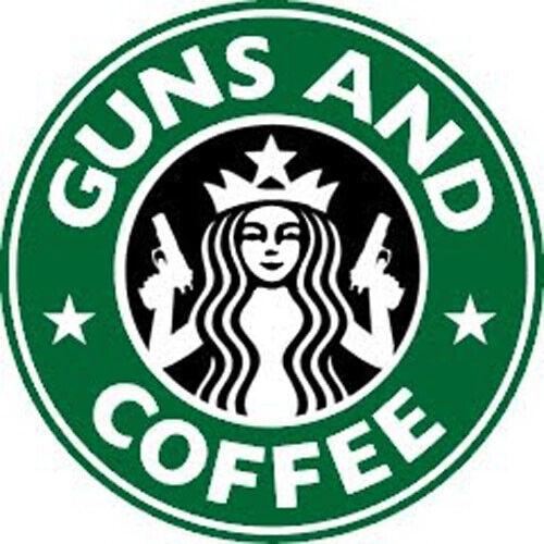 Guns And Coffee Mens Polo Shirt Starbucks Parody XS-6XL LT-4XLT Gun Rights New
