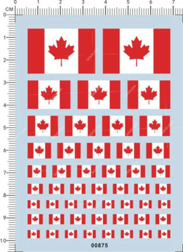 Universal All Size Scale Canada National flag Model Kit Water Slide Decal