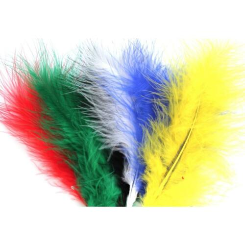 10-15 cm Marabou Feathers 20 Per Pack Fluffy /& Soft 26 Colours