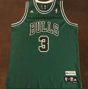best website d4db3 6ca4c Details about Rare Vintage Adidas Chicago Bulls Ben Wallace St Patrick's  Day Basketball Jersey