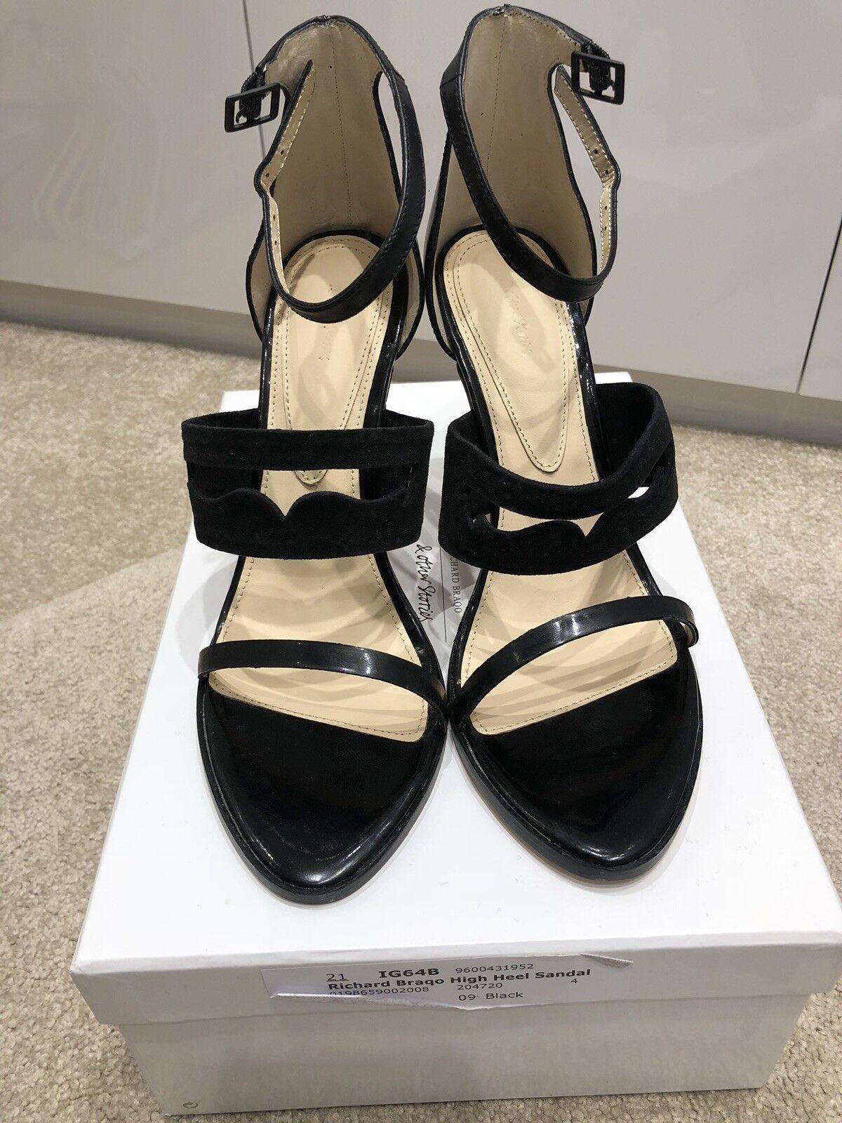 Other Stories Richard Braqo High Heeled Black Leather Sandal(39)