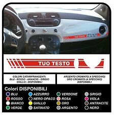 Adesivo CRUSCOTTO per FIAT 500 ABARTH sticker FIAT 500 plancia 500 tuning decal