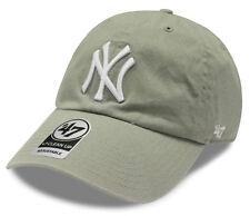 New York Yankees Cap MLB '47 Brand Clean Up Curved Baseball Cap One size - Grey