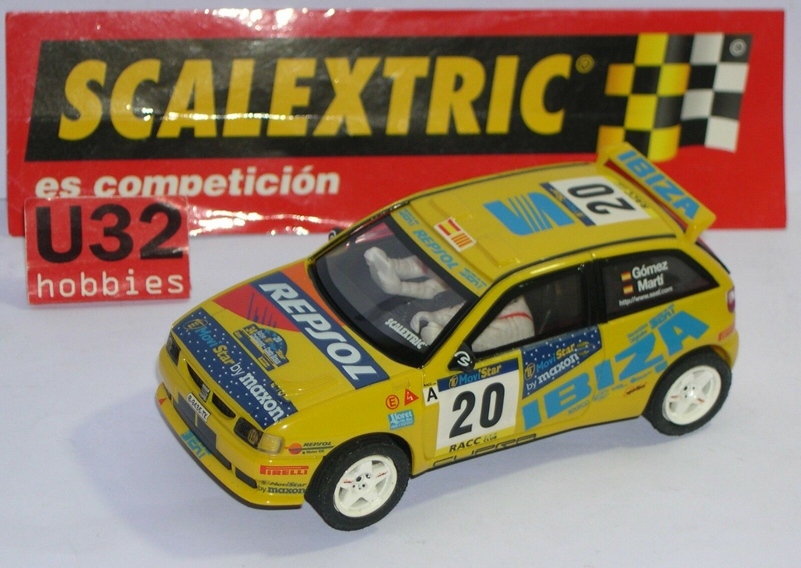 FN SCALEXTRIC SPAIN PLANET RALLYES MYTHICAL SPAIN SEAT IBIZA