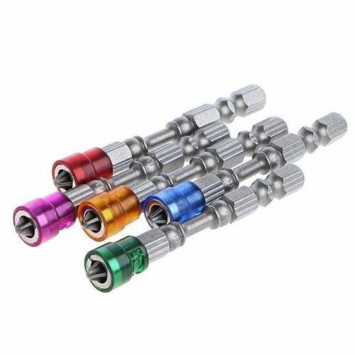 """5pcs 1//4/"""" Hex Screwdriver Bits Wall Drilling Screw Driver Magnetic Holder Tools"""