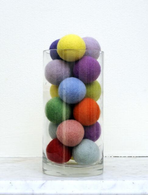 DIY Kit JUMBO Felt Ball Pom Pom Garland Bunting Decoration 30 x 4cm balls