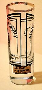 VTG-Statue-of-Liberty-New-York-Shot-glass-22K-Gold-ASTAR-w-labels-Made-USA
