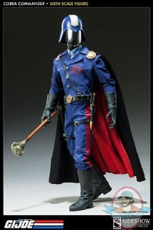 1 6 Scale GI Joe Cobra Commander The Dictator Sideshow Collectibles Used