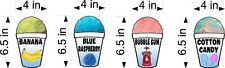 Shave Shaved Ice Cooler Or Truck Decals 21 Flavors Choose From You Pick New
