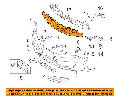 Front Bumper Face Bar Impact Energy Absorber Fits 07-10 Elantra Sedan 865202H000