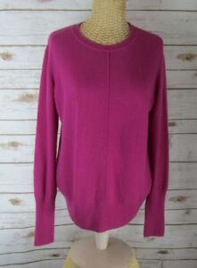 Vince-Womens-Medium-Berry-Purple-100-Cashmere-Long-Sleeve-Pullover-Sweater-M