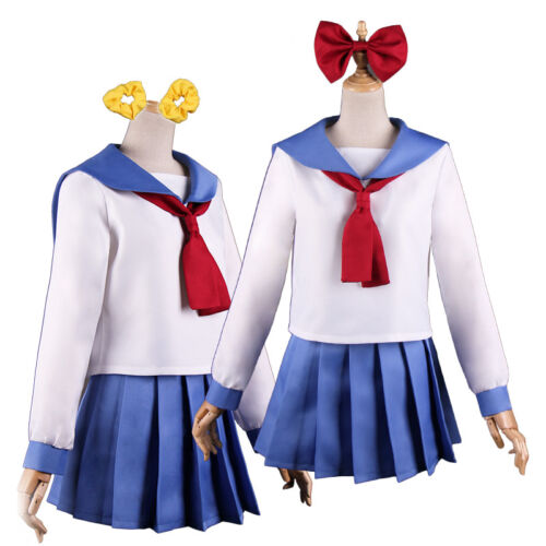 Pop Team Epic Popuko Pipimi Sailor Dress Uniform Outfits Cosplay Costume Stock