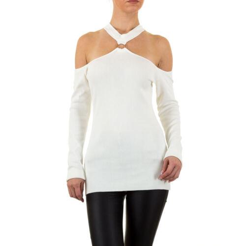 Damen Gerippter Strick Pullover 7707 Ital-design