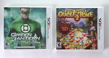 Green Lantern + Cradle of Rome 2  Nintendo 3DS games  NEW   D2