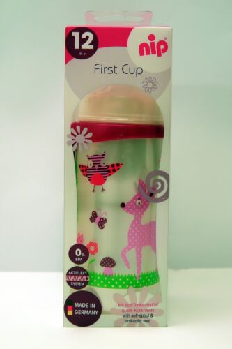 New NIP First Baby Infant Toddler Cup Silicone Soft Spout 330 ml