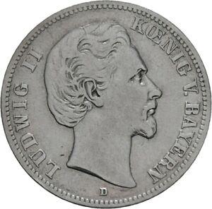 Bayern-2-Mark-1876-D-Ludwig-II-J-41-M54