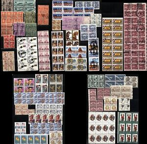 Used-USA-Stamps-Postage-Blocks-Collection-Air-Mail-Christmas