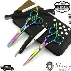 Professional-Barber-Shears-Hair-Cutting-amp-Thinning-Scissors-Hairdressing-6-034-Pro