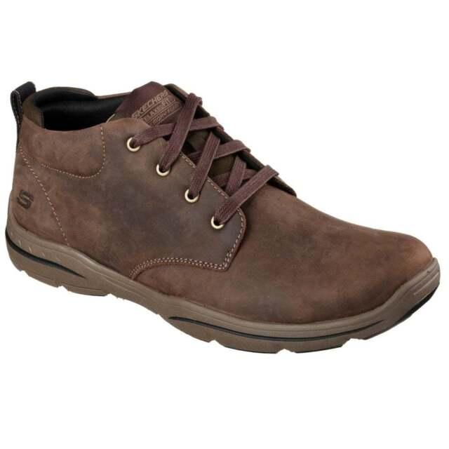 skechers relaxed fit harper melden men's ankle boots