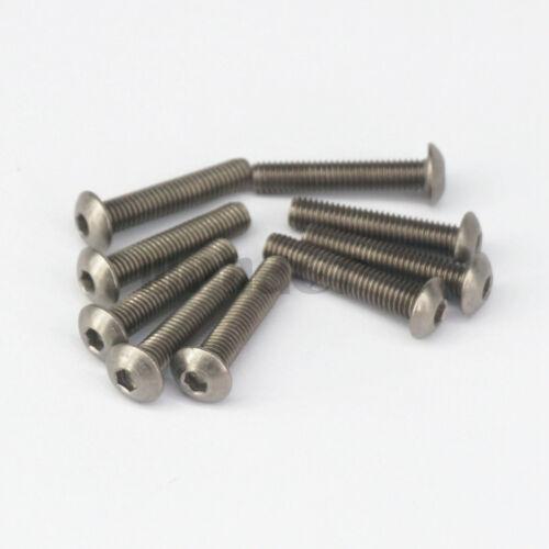M3//M4//M5//M6 6-60mm Grade 2 Titanium Socket Dome Allen Head Cap Screw Bolts 20