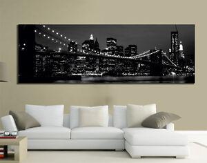 Quadri moderni tela 150x50 arte arredo new york skyline for Quadri d arredo moderni