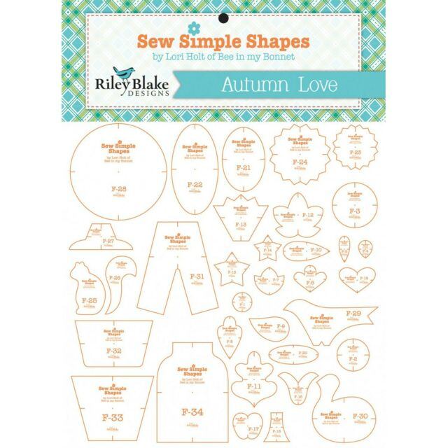 Autumn Love Sew Simple Shapes 34 Quilt Templates Set by Lori Holt STT-9850