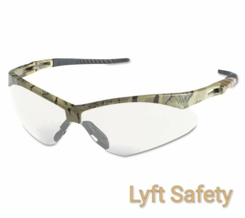 JACKSON NEMESIS 22608 V30 ANSI Safety Glasses Clear Anti-Fog Camo Frm ~PICK SIZE