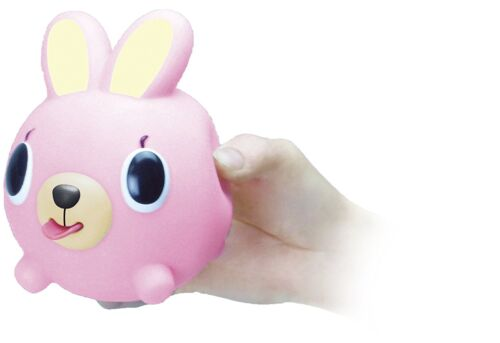 Oshaberi Doubutsu Japon grincements Squishy Press Animal Balle Jouet Mignon Lapin