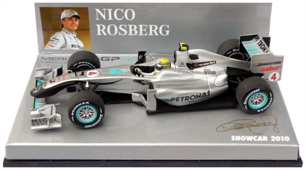 Minichamps Mercedes GP F1 Team Showcar 2010 - Nico Rosberg 1 43 Scale