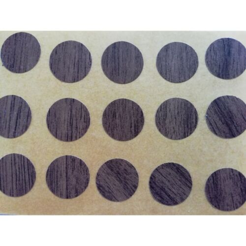 60 Stück Abdeckkappen Schrauben Abdeckung selbstklebend 14 mm eiche