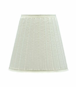 Aspen creative 33004 pleated empire spider lamp shade off white 5 x9 x8 1 2 ebay - Creative lamp shades ...