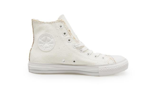 Unisexe CONVERSE CHUCK TAYLOR ALL STAR OX Haut - 551924c - Or white baskets