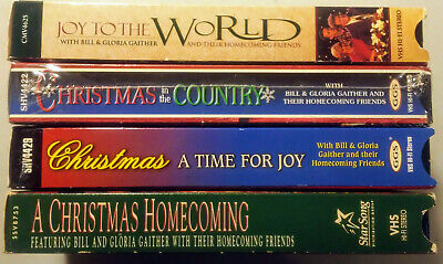 4 VHS lot Gaither Christmas in the