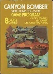 Canyon Bomber - Atari 2600 Game Authentic