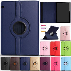 "For Huawei Mediapad T3 10 9.6 "" Tablet 360 Rotate PU Leather Case Stand Cover"
