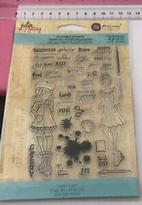 Prima Marketing Julie Nutting Craft Day Planner Clear Stamp Set Girls