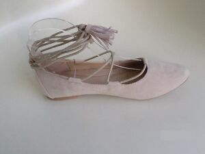 BALLERINES-A-LACETS-CHEVILLE-CHAUSSURES-FEMME-KATE-beige-T-36-37-38-39-40-41