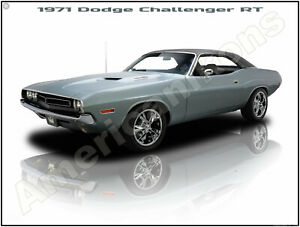 1971 Dodge Challenger R//T New Metal Sign Fully Restored