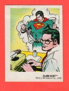 1978-3-Clark-Kent-DC-Super-Hero-Stickers-Food-Issue-No-Logo-Rare-nrmnt