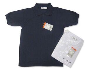 Boys Pique School Polo Shirt Navy or White 2-16 years Sizes 23-36