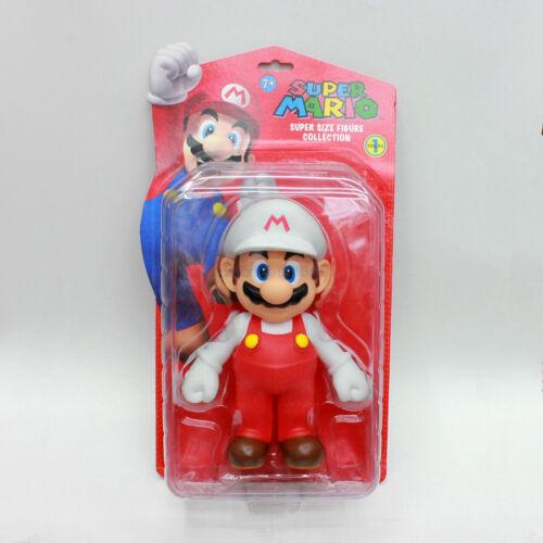 "Original Box 9/"" Big Size Super Mario Bros Action Figures Toys Luigi Princess"