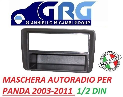 MASCHERINA ADATTATORE STEREO AUTORADIO FIAT PANDA DAL 2003/>  COLORE GRIGIO