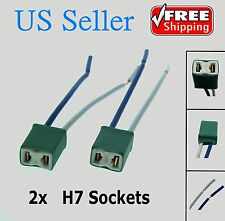 2x H7 Female Pigtail Ceramic Headlight/Fog Light Connector/Plug/Adapter/Socket