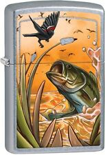 Zippo Base Bird Satin Chrome Color-Imaged Windproof Lighter 29391 ***NEW***