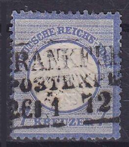 Breast Shield Mi No. 10 With R3 Frankfurt Postexp. 1872 Postmarked, German Reich