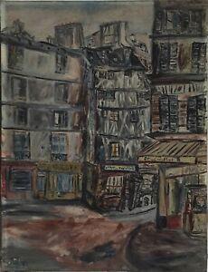 à Découvrir Huile Sur Toile Signée Artiste Inconnu Montmartre Paris ?