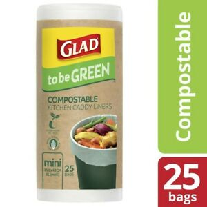 Glad To Be Green Compostable Kitchen Liners Mini 25 pack