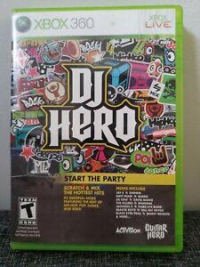 DJ Hero Game XBox 360 (Microsoft Xbox 360, 2009) DAMAGED CASE. DISC GOOD COND