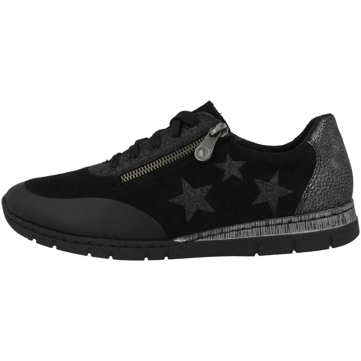 Rieker foil-microstretch-glitterfoil Zapatos señora anti estrés cortos n5322-02