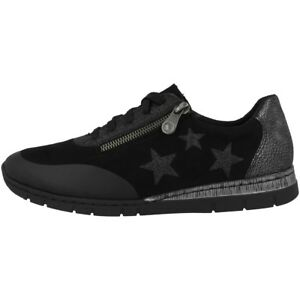 02 Sneakers microstretch Donna glitterfoil Foil N5322 stress Anti Rieker Scarpe z7wv1gqPx